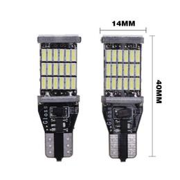 Canada 2 PCS Super Lumineux T15 W16W 921 45 SMD LED 4014 Voiture Auto Canbus Marqueur Lampes Lampe De Lecture Éclairage Intérieur Ampoule supplier lamp 921 Offre