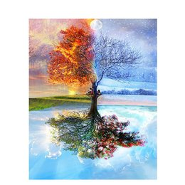 2019 dipinti pazzeschi Foraway Wholesale Tree DIY Oil Paint By Number Made in China Support Drop Shipping Spedizione gratuita