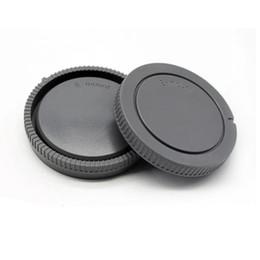 md plastico Rebajas 10 pares tapa de la cámara de cuerpo y tapa de lente posterior para NEX NEX-3 E-mount