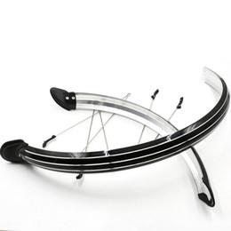 Bicicletta di parafango in plastica online-20''26''700C parafango bici nera set parafango della bicicletta accessori bici per ciclismo ciclo di plastica biciclette ali per mountain # 233425