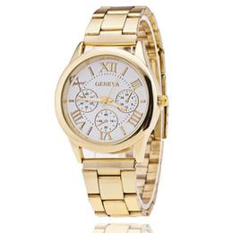 relógios de senhora Desconto Assista Mulheres Clássico Genebra Luxo Senhoras Relógios Das Mulheres de Aço Completo de Cristal Relogio feminino Reloj Mujer De Metal Relógio de Pulso CNY76