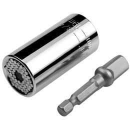 Argentina 1 set Universal Torque Wrench Head Set Socket Sleeve 7-19mm Taladro eléctrico Buje de trinquete Llave mágica Multi herramientas de mano supplier universal tool sockets Suministro