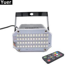 Alluminio Shell 48 LED più luminoso DJ Disco Sound attivato Laser Proiettore Stroboscopico Flash RGB Illuminazione per effetti di luce Lampada da tavolo da