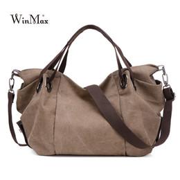 88aafec843d72 Winmax Hohe Qualität Trapeze Geraffte Leinwand Frauen Handtasche Modemarke  Handtasche Lässig Große Hobos Tasche zum Verkauf Weibliche Totes Bolsa    34280