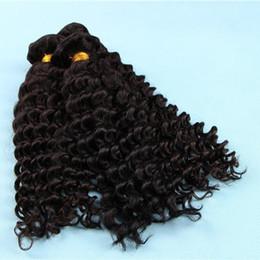 Наращивание волос на основе смешанных волокон онлайн-Новые Глубокая Волна Плетение Волос Уток Микс Человеческих Волос Futura Синтетическое Волокно Смешанные Вьющиеся Волосы, Плетение Расширение