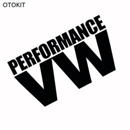 Performance de windows en Ligne-Autocollant de colle VW PERFORMANCE réfléchissant blanc noir pour Volkswagen VW modèle de voiture Windows arrière pare-brise porte autocollant badge