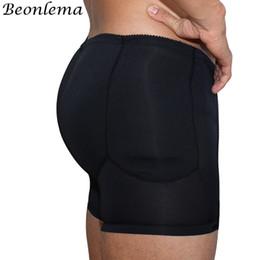 650654cbb04 Beonlema Men Butt Enhancer Shaper Panties Sexy Body Shapwear Homme Black Padded  Briefs Open Crotch Soft Underwear