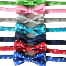 pet dog bow fashion ties Promo Codes - Kid Bow Tie Pet Dot Printed Bowties Dog Cat Wave Point Neckwear Children Bow Ties Wedding Party Fashion Accessories Wholesale DBC DH2516