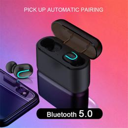 2019 teléfono con chip de oreja Auriculares inalámbricos Bluetooth 5.0 Q32 Tws Auriculares manos libres Auriculares deportivos Auriculares para juegos Compatible con teléfonos universales