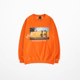 Justin bieber propósito jersey online-Primavera Japonés Skateboard Pullovers Sudadera Hombres Color Naranja Justin Bieber Propósito Tour Skatebaord High Street Hoodies Hombres