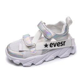 2019 schwarze sport-sandale Mädchen Laufschuhe Jungen Sportschuhe Kinder Sommer Sneaker Jungen Sandalen schwarz Farbe Jungen Sport Running Girls günstig schwarze sport-sandale