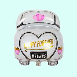 Nouvelle arrivée de mariage 47 * 61 cm gros Ballons de bande dessinée blanche ballons de voiture de fête mariée mariage décoration hélium balloona ? partir de fabricateur