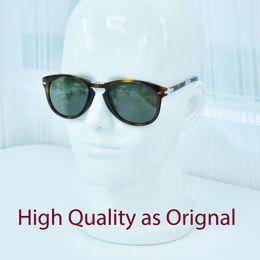 Flecha gafas de sol hombres online-PK Italia popular 714 gafas de sol plegables acetato original de alta calidad con lentes de vidrio flecha piloto forma gafas de sol hombre mujer