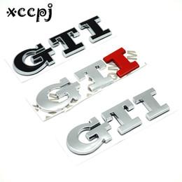 2019 badge voiture gti 3d Car-styling mot lettre 3D Logo autocollant de voiture SPORT emblème badge porte autocollant auto accessoires pour GTI promotion badge voiture gti 3d