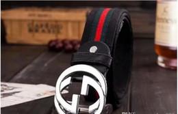 Cintura in pelle beige online-cinture di design di qualità 110 centimetri cinture di lusso per gli uomini cintura grande fibbia in pelle di moda mens cinture in pelle2019