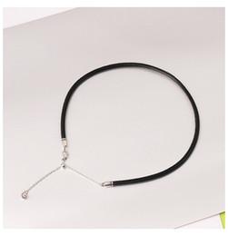 3 mm baïonnette fermoir Tour de Cou Bracelet Fashion Unisexe Hommes Femmes Cordon Cuir Collier