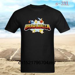 2019 projeto da arte do jogo Camisa dos homens t Brawlhalla Logo Game Art Design Tripulação Pescoço Moda Preto t-shirt mulheres desconto projeto da arte do jogo