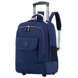 Mochilas de viaje de ruedas online-Rolling Luggage Travel Backpack Shoulder Spinner Backpacks High Capacity Wheels For Suitcase Trolley Carry on Duffle Bag