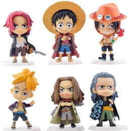 Figura mini anime de uma peça on-line-Mais novo 6 Pçs / lote One Piece figura Mini Figuras de Ação de PVC A 71ª Geração Modelo Coleção Brinquedo Estatueta