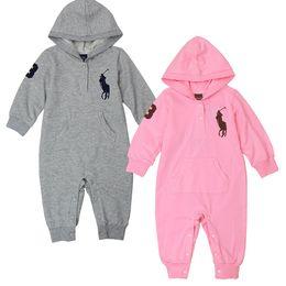 Mameluco caliente bebé online-0-24 M de Dibujos Animados Bebé Mameluco Spirng Otoño de Manga Larga Bebé Niño Niña Mameluco Infantil Mono Caliente Niños Algodón ropa de bebé AAAA14