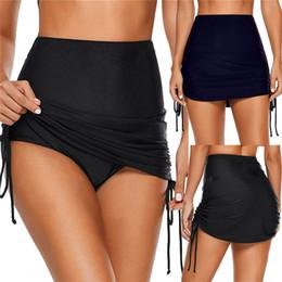 Mulheres sexy bikini bottoms on-line-2019 Sólida Nova Natação troncos Mulheres senhoras Sexy Fantasia verão cintura Alta bandage Stretch Bikini bottoms Saias De Banho swimwear