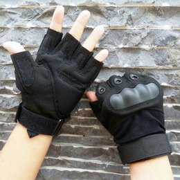 guantes airsoft medio dedos Rebajas Fashion-Tactical Army Military Airsoft Shooting Bicicleta Combate Guante sin dedos Paintball Hard Carbon Knuckle Half Finger Gloves