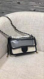 Sac de perles en Ligne-Livraison gratuite New European black pvc Ladies sac à bandoulière Sac à main