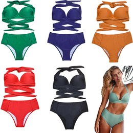 953c6458a09c3 2019 new Sexy Push Up Bikini Sets Summer Swimsuit Women Swimwear Suits Solid  Plus Size Bathing Suit Hard-cup Supported by Pure-color Steel