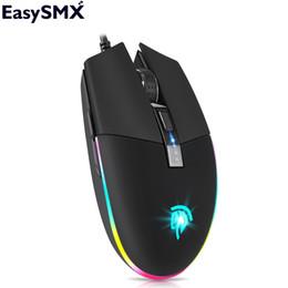 Configuración del ratón de la computadora online-Gaming Mouse EasySMX V50 PC Gaming Mouse Computadora portátil RGB LED 5 botones programables 5 Configuración de DPI