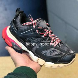 designer tracks for man Promo Codes - Release 3.0 Tess S Paris track men gomma maille black For women Triple S Clunky Sneaker Casual Shoes Hot Authentic Designer Shoe