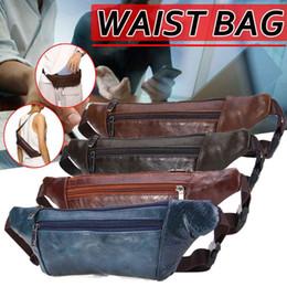 saco de couro do quadril da cintura dos homens Desconto Mulheres homens unisex cintura saco de couro multifuncionais Chest Casual Bolsas Pacote Ladies Leather Chest Banana Bag Mens Hip Hip Bum Bags