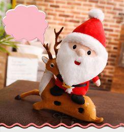 2019 детские игрушки 23см Санта Клаус плюшевые куклы игрушки Рождественские украшения чучела куклы Принадлежности для Рождества Подарки L357 дешево детские игрушки