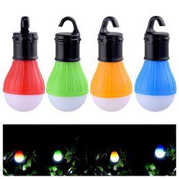 Bombilla led batería para linterna online-Paquete de 4 bombillas LED para carpas portátiles con bombilla Luces de camping al aire libre con batería Lámpara de linterna led para viajar Camping Hiki