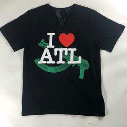Canada Vlone Designer Marque Vêtements Hommes T-shirt hip hop big V Lettre L LOVE ATL coeur skateboard streetwear casual t-shirt supplier love heart t shirts Offre