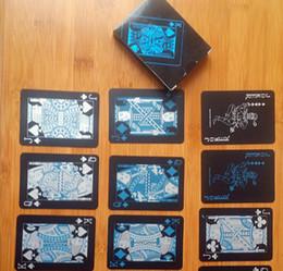Black Texas Holdem Classic Poker pubblicitario Impermeabile PVC Grind Durevole Bordo Giochi di ruolo Magic Card 4 Regalo 2hy WW da