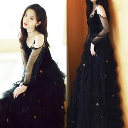 2019 vestidos casuales Envío gratis bordado largo regreso a casa de baile de buena calidad vestidos de lentejuelas de oro 2019 fiesta cóctel vestido negro rebajas vestidos casuales