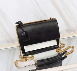chaîne de sac d'or Promotion HOT en cuir Vintage Crossbody Bag Femmes célèbre designer mini sac à bandoulière filles Golden Silver Chain Flap Cover