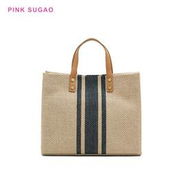 leinentasche Rabatt Rosa Sugao Frauenhandtasche Luxus-Einkaufstasche Designer-Handtaschen Schulter neue Art und Weise Segeltuchgeldbeutel mit großer Kapazität Umhängetasche Aktentasche Taschen