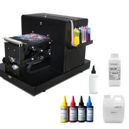 Impression de t-shirts machine en Ligne-Imprimante A4 à plat pour impression T-shirt Imprimante numérique DTG pour machine d'impression de t-shirt avec encre textile