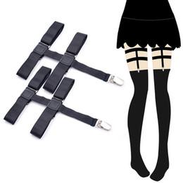 Le gambe dei calzini delle guarnizioni online-1 paio Giarrettiere da donna giarrettiera antiscivolo Gancio a clip per cosciali da donna Calze da donna giarrettiere in metallo