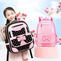 lindos bolsos de mochila Rebajas Nuevo lindo bolso de escuela para niños niñas mariposa rosa primaria mochila mochila niños coche mochila