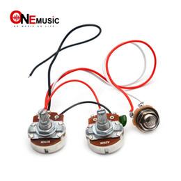 ПБ бас жгут проводов встроенный кабель комплект для точности бас-гитара большой 250К горшки 1 громкость 1 тон Джека от Поставщики объемные горшки