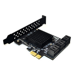 2019 подогрев карточек Чип 88SE9215 с 6 портами SATA 3.0 для платы расширения PCIe Адаптер PCI Express SATA Адаптер SATA 3 с радиатором для жесткого диска дешево подогрев карточек