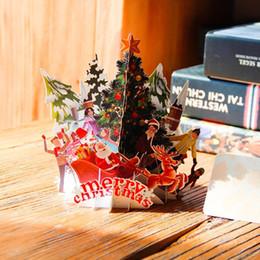12 buste e buste Cartoline dauguri di buon Natale Biglietti di ringraziamento allingrosso Cartoline per le vacanze per Natale Regalo di compleanno per le vacanze di Capodanno Cartoline di Natale 3D