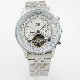 Top Quality Luxo Mens Relógios Automáticos Mecânicos dos homens Relógio de Pulso Preto Dial Azul De Couro 1884 Moda Masculina Relógio de Pulso relógios de Fornecedores de relógio perfeito atacado