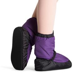 botas de ballet negro Rebajas Zapatos cálidos de ballet para niñas Ballet Castle Dance Warm Boot Ballerina Warm Booties Charcoal / Black / Purple Dance Apparel