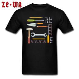 2019 magliette meccaniche Gadget T-shirt Uomo Tools Stampa T-Shirt Unique Mechanic Programmer Tshirt Personalizzato Cotone maschile Abbigliamento Nero Top Disegna Art magliette meccaniche economici