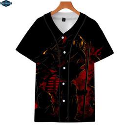 la moda della maglietta di baseball Sconti Magliette da baseball 3D Uomo Popular Anime Fashion Manica corta Maglietta casual Maglietta popolare per maglietta