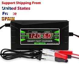 Complètement automatique chargeur de batterie de voiture 90v à 260v à 12v 6a puissance rapide intelligente charge humide au plomb acide LCD numérique ? partir de fabricateur