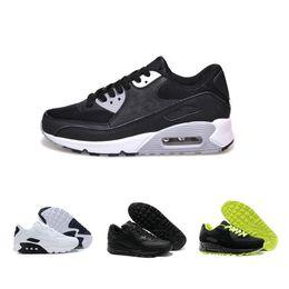 Nike air max 90 vapormax Off white Flyknit Utility nike air max sneaker  zapatos deportivos de alta calidad zapatillas de deporte del amortiguador de aire negro blanco Eur 36-46 desde fabricantes